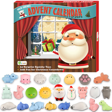 D-FantiX 24Pcs Mochi Squishy Toys Christmas Countdown Advent Calendar
