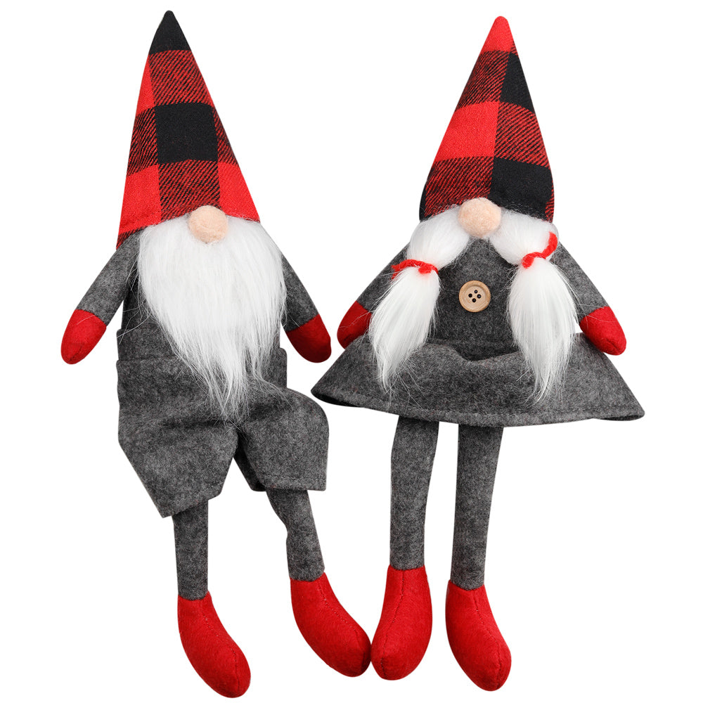 D-FantiX Mr and Mrs Christmas Gnomes Plush Set of 2