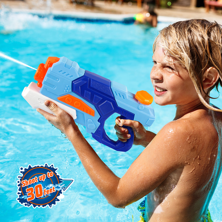 D-FantiX Water Guns 2 Pack, Super Water Blaster Soaker Squirt Guns 550CC  Long Ranging Shooting