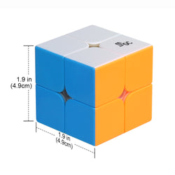 D-FantiX YJ MGC 2x2 Speed Cube YJ MGC Magnetic 2x2x2 Puzzle Cube Toy