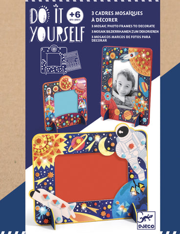 Do it yourself- 3 mosaic photo frames