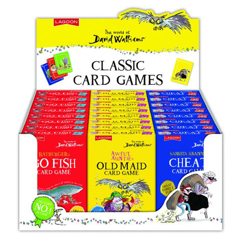 The world of David Walliams classic card games