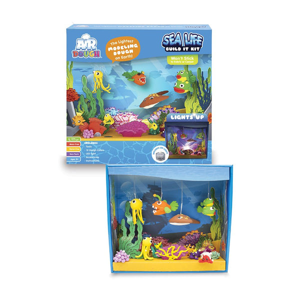 air dough- sea life build it kit