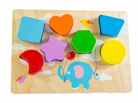 flying balloon shape chunky puzzle
