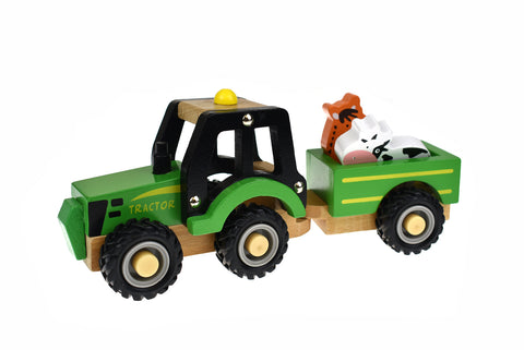 tractor with animals