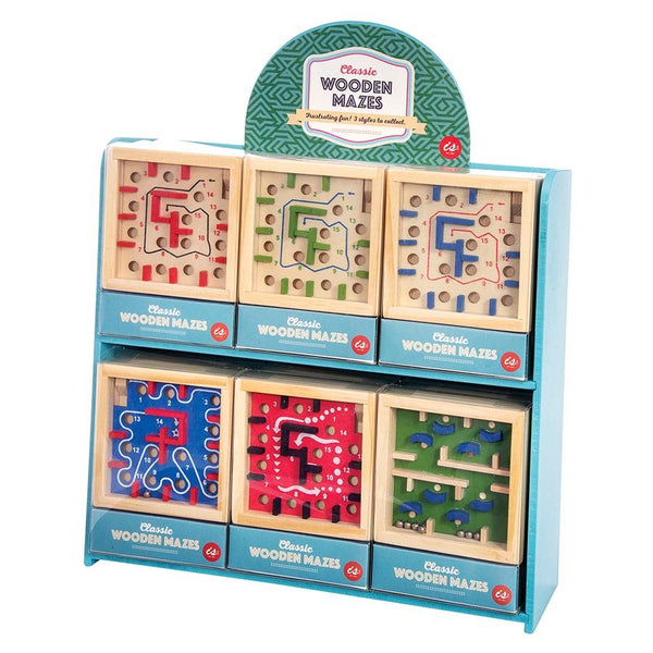 classic wooden mazes