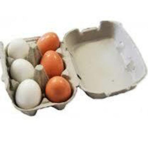 fun factory - wooden eggs 6 pc