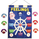 feelings - fabric wall hanging