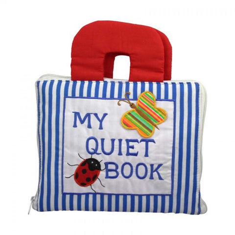 my quiet book - blue stripes