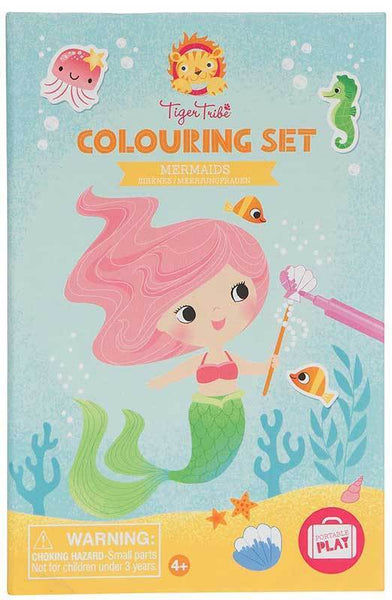 colouring set - mermaids
