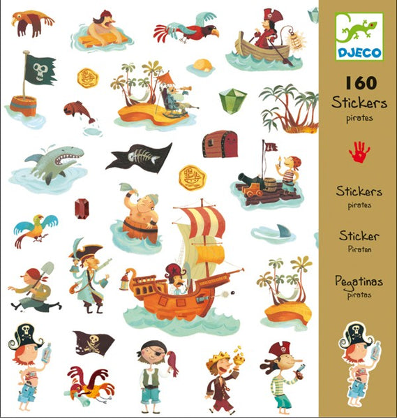 djeco - pirate stickers