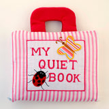 my quiet book - pink stripes