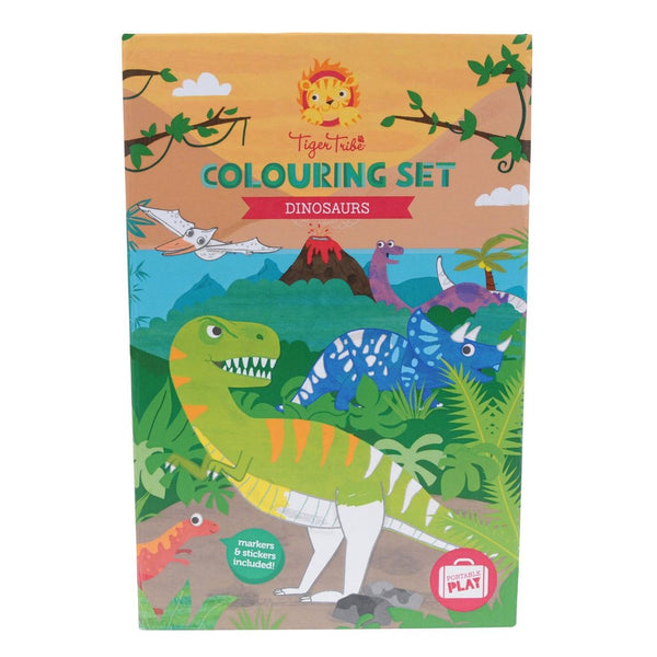dinosaurs - colouring set