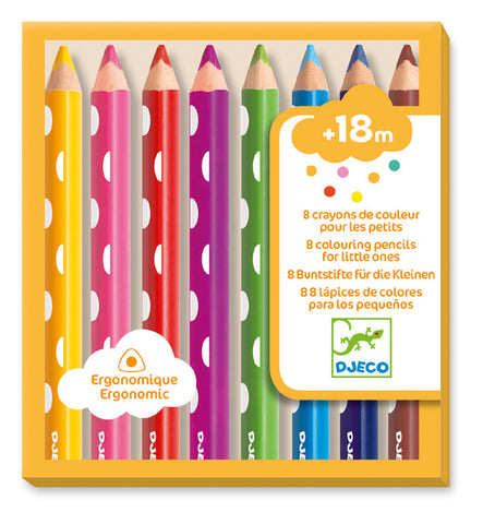 8 colouring pencils for little ones