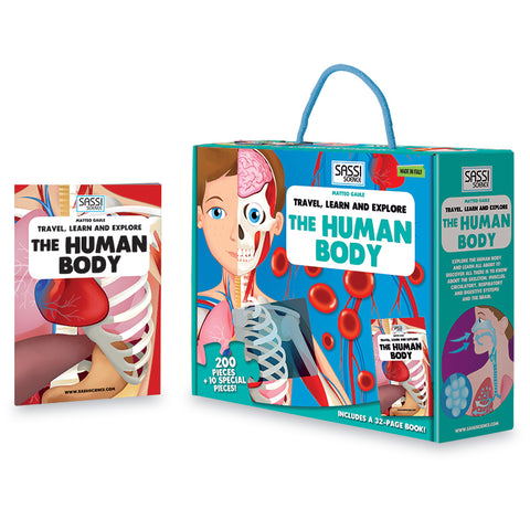 travel, learn & explore - human body puzzle