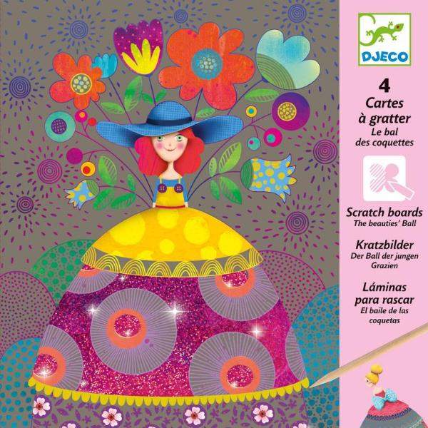 djeco - beauties ball scratch cards