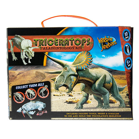 triceratops palaeontology kit