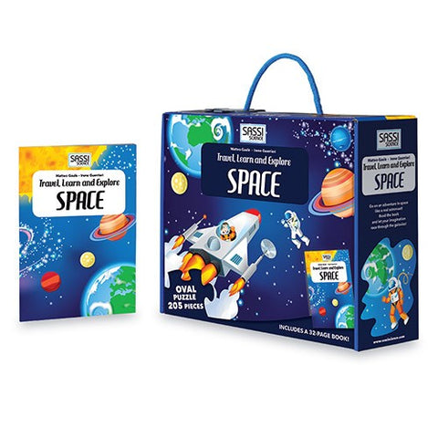 travel, learn & explore - space puzzle