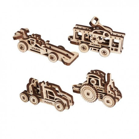 ugears fidgets - vehicles