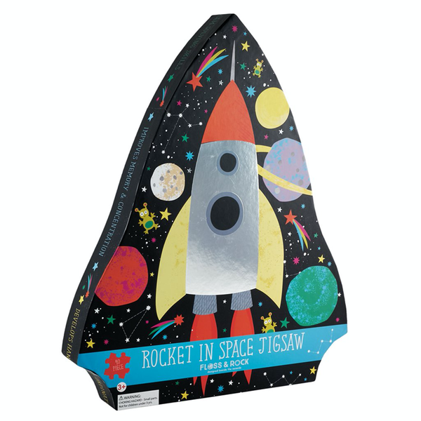 rocket in space jigsaw 40pc