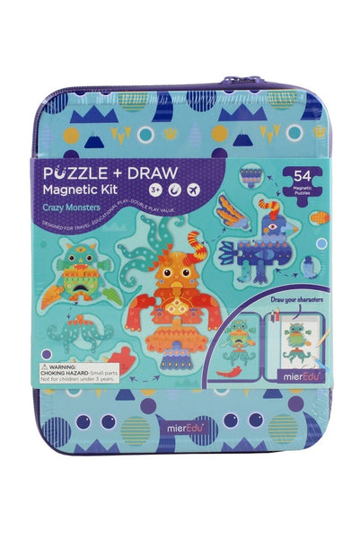 Puzzle + draw magnetic kit