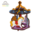 ugears colouring models - merry go round