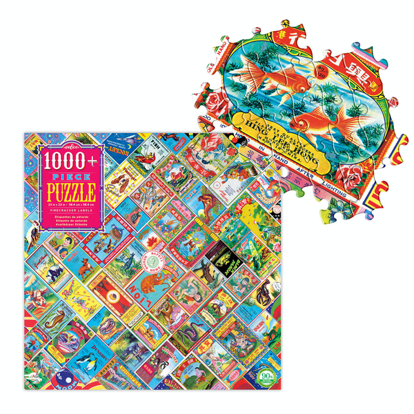 Firecracker Labels 1000pc puzzle
