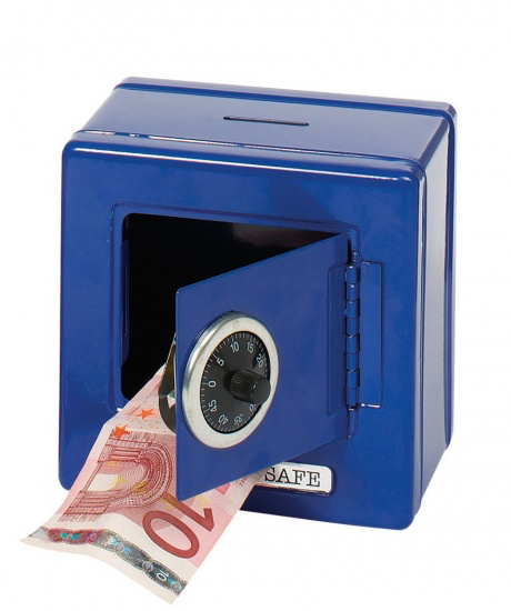 Metal safe with combination lock- money box