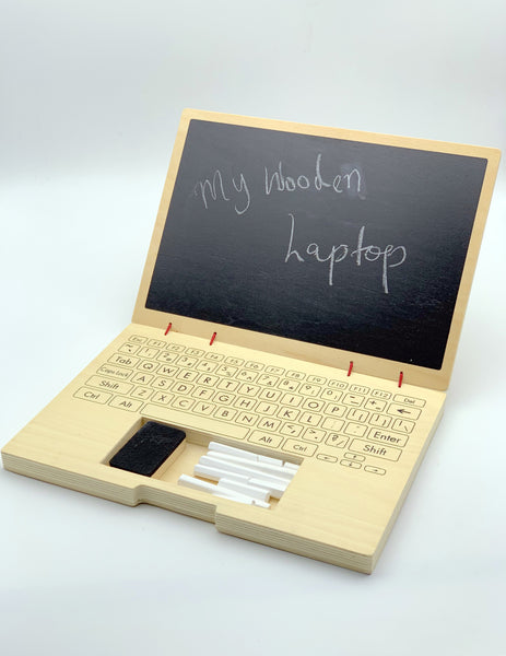 my wooden laptop