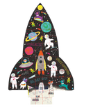 rocket shaped 80pc puzzle