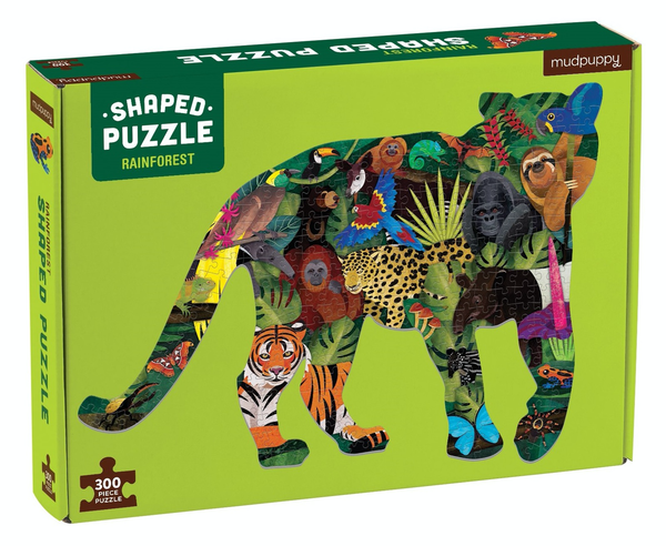 shaped puzzle 300pc rainforest