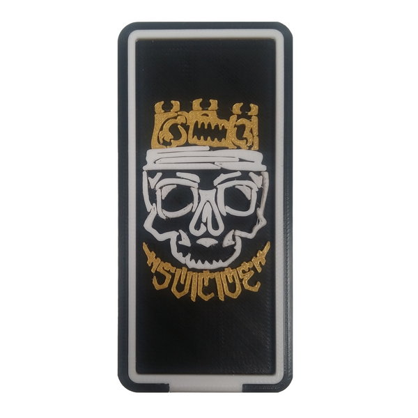 King Skull By Suicide Mods In Whit/Gold/Black