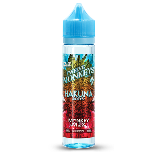 Twelve Monkeys Hakuna Iced 0mg 50ml Short Fill E-Liquid