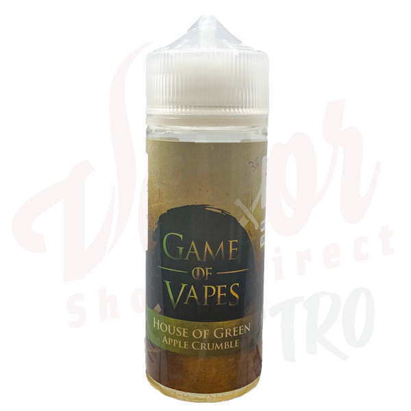 Game Of Vapes House Of Green Apple Crumble 50:50 0mg 100ml
