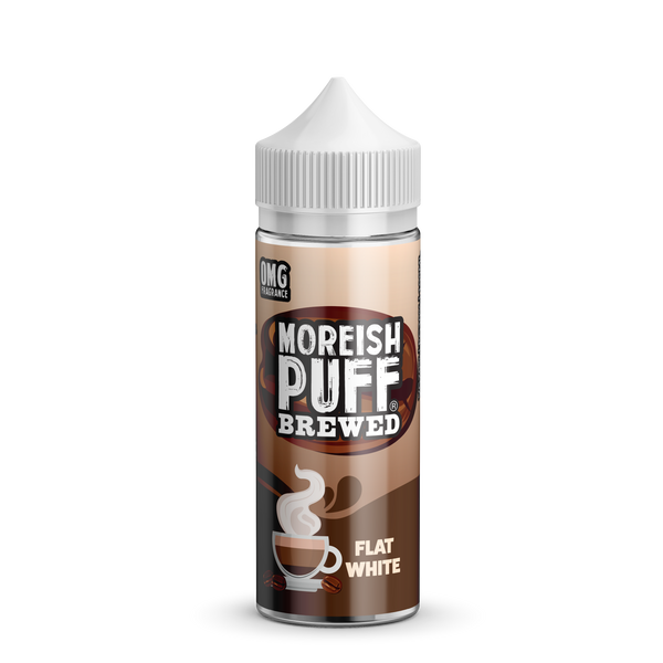 Moreish Brewed Flat White 0mg 100ml Short Fill E-Liquid