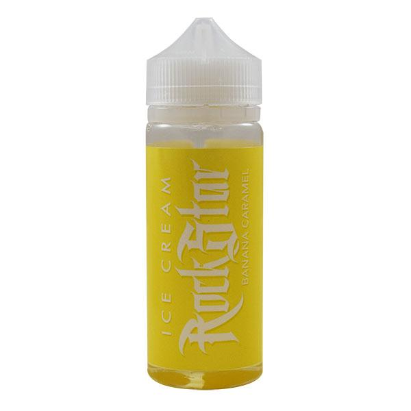 Rockstar Vape Ice Cream Banana and Caramel 0mg 100ml Short Fill E-Liquid