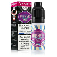 DINNER LADY- BLACKBERRY CRUMBLE SALT NIC 10ML 20MG E-LIQUID