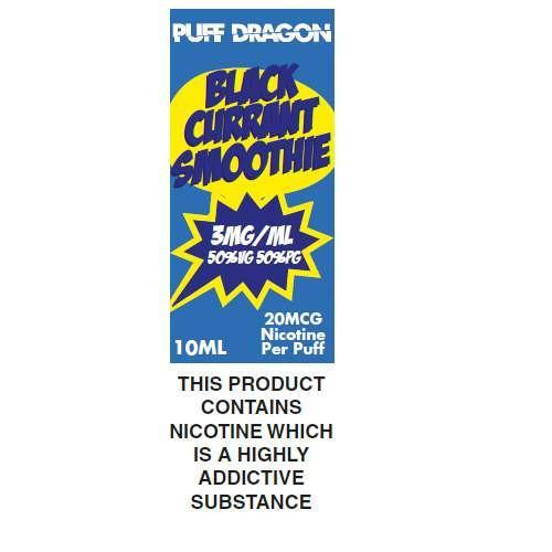 Puff Dragon Blackcurrant Smoothie 10ml E-Liquid
