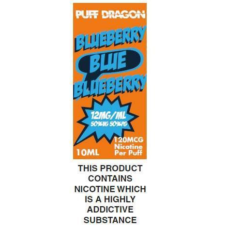 Blueberry By Puff Dragon TPD Compliant E-Liquid - 10ml