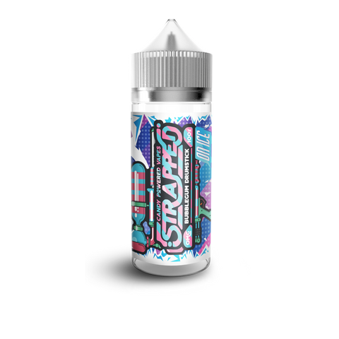Bubblegum Drumstick On Ice E-Liquid by Strapped 100ml Short Fill