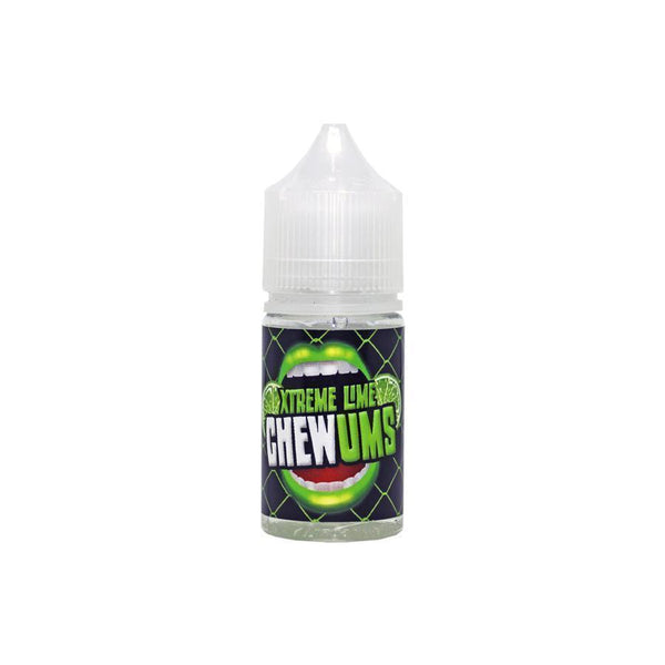 Chewums -  Xtreme Lime 0mg Shortfill - 25ml