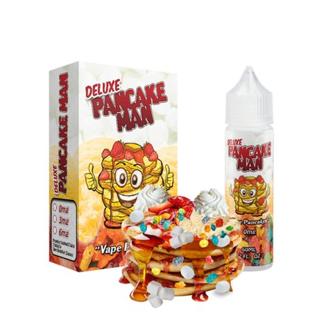 Pancake Man Deluxe Pancake Man 0mg 50ml Short Fill E-Liquid
