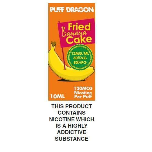 Fried Banana Cake By Puff Dragon TPD Compliant E-Liquid - 10ml