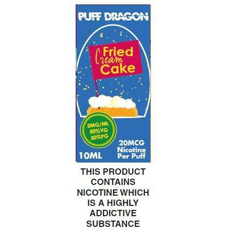 Puff Dragon Fried Cream Cakes 10ml E-Liquid