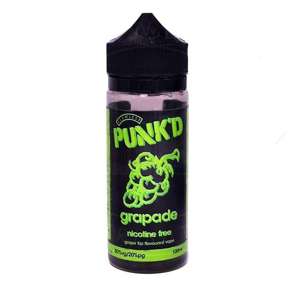 Punk'd Grapade 0mg 100ml Short Fill E-Liquid