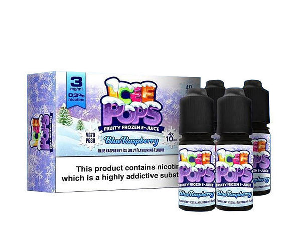 Blue Raspberry by Icee Pops TPD Compliant E-Liquid - 4x10ml