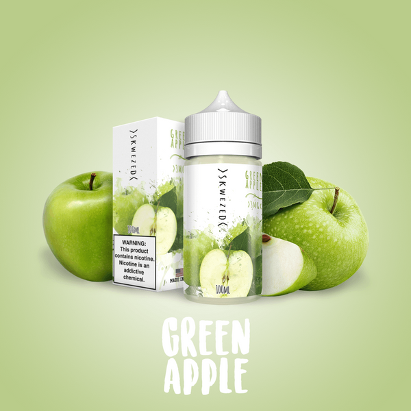Skwezed - Green Apple E-Liquid 0mg 50ml Shortfill