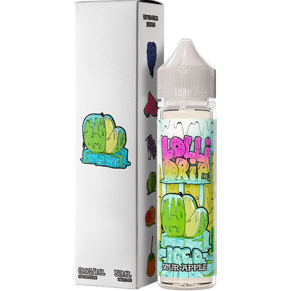 My Vapery Lollidrip: Sour Apple Iced 0mg 50ml Short Fill E-Liquid