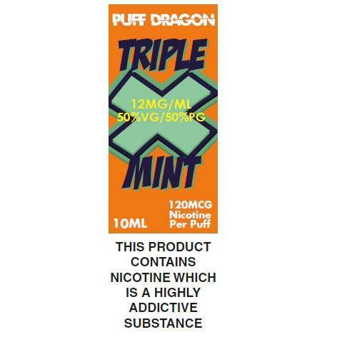 Triple X mint By TPD Compliant E-Liquid - 10ml
