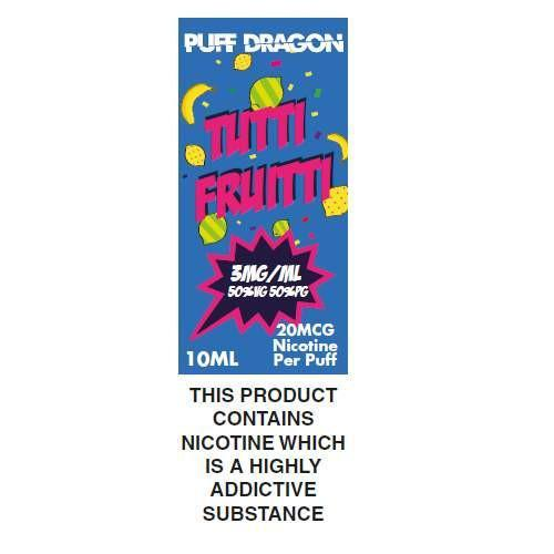 Tutti Fruitti By Puff Dragon TPD Compliant E-Liquid - 10ml